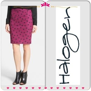 Halogen purple stars pencil skirt very chic